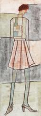 City woman in demi-season clothing