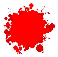 Farbklecks rot