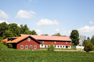 Farmers house. Houses and environment in Sweden