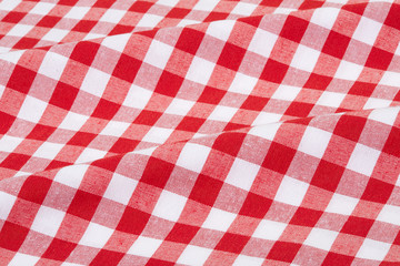 Acrylic Prints Picnic Red and white wavy tablecloth texture background