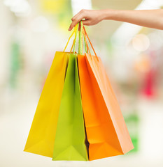Wall Murals Indians picture of multi colored shopping bags