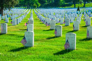 Arlington National Cemetery in Memorial day