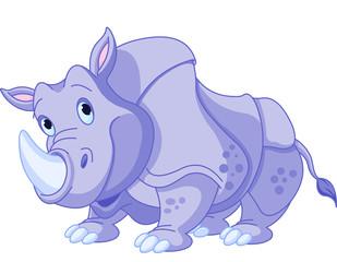 Canvas Prints Fairytale World Cartoon rhino