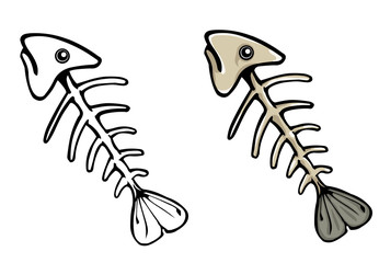 Vector fish skeleton