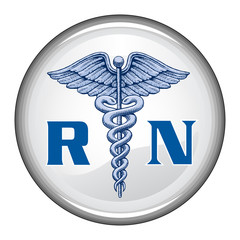 Registered Nurse Button