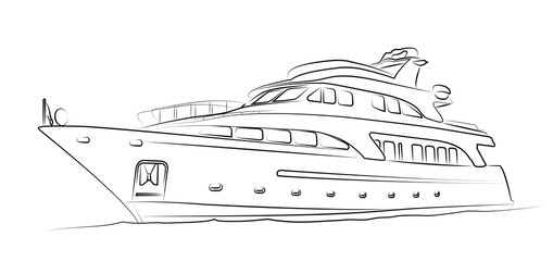 Yacht isolated on white