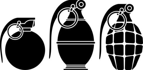 Stencils of grenades