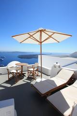 Grèce - Terrasse à Santorin
