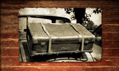 Holzplakat - Koffer