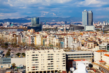 Day  view of picturesque Barcelona cityscape