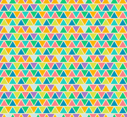Poster ZigZag Mosaic seamless patterns in retro style. Soft colors.