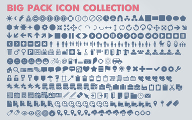 Collection of universal icons for web and mobile, vector