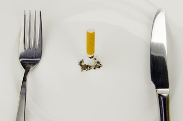zigarette zum frühstück