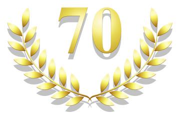 Lauriers 70 en or