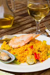 Dining with paella