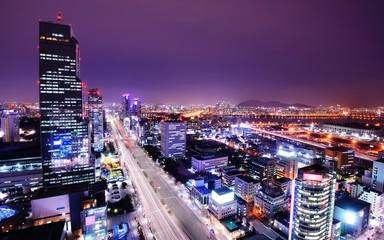 Foto op Aluminium Seoel Gangnam District of Seoul, South Korea