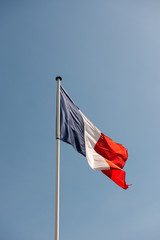 Flag of France on a perfect sky background