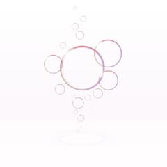 Transparent soap bubbles, eps10 vector