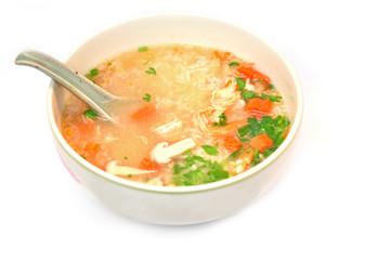 Thai Rice Soup With Shrimp