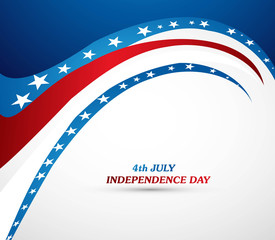 4th july american independence day fantastic wave vector