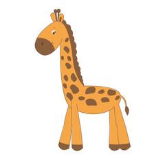 Cute little giraffe , illustration isolated on white
