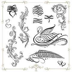 Kalligraphie, vintage, filigran