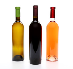 A set of three kinds of wine