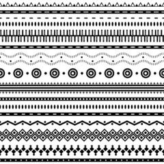 Tribal aztec seamless pattern.