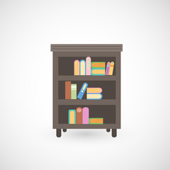 illustration of isolated bookshelf vector
