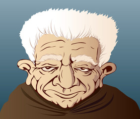 the white-haired grandfather