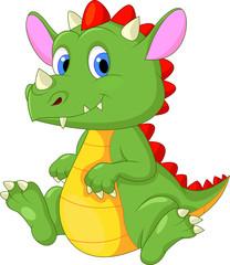 Photo sur Plexiglas Dinosaurs Cute baby dragon cartoon