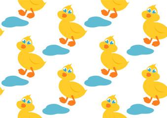 yellow duck seamless background