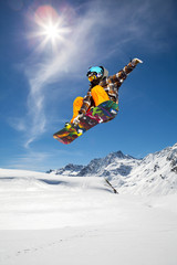 Fototapete - snowboarder