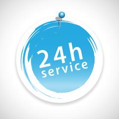 24h service icon button