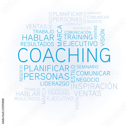 "coaching concept related spanish words in tag"" stock image and"