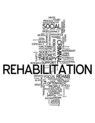 "Word Cloud ""Rehabilitation"""
