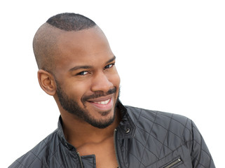 Handsome young african american male model smiling