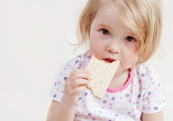 cute baby eats