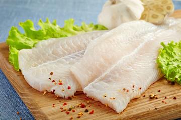 Wall Murals Fish fresh raw fish fillet
