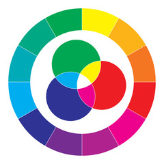 Obraz Spektrum kolorów, abstrakcja, kolorowy diagram tło - fototapety do salonu