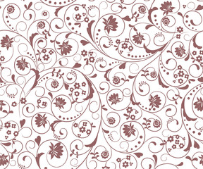 background with decorative floral  pattern