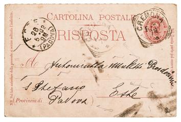 italian handwritten postcard letter