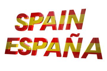 Spain 3d text
