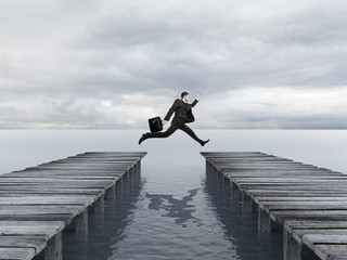 Wall Mural - businessman jumping