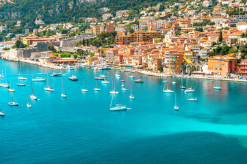 Canvas Prints Nice luxury resort Villefranche, french riviera, Provence