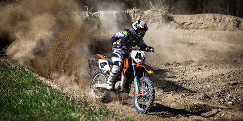 Fototapete - motocross junior