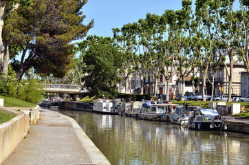 Canal at Narbonne in France