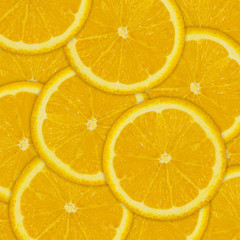 Abstract background of orange fruit  slices
