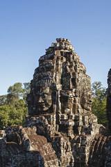 bayon temple angkor thom siem reap cambodia