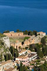 Wall Mural - Ancient greek Theater at Taormina
